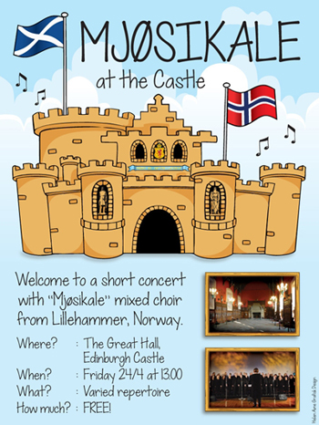 Mjøsikale at the Castle! – Lillehammer Choir to lift the rafters in Edinburgh